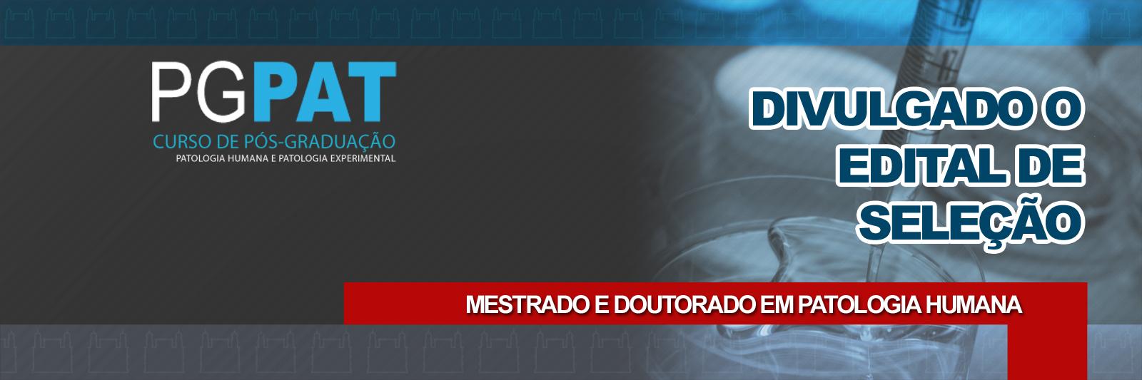 PGPAT MESTRADO DOUTORADO